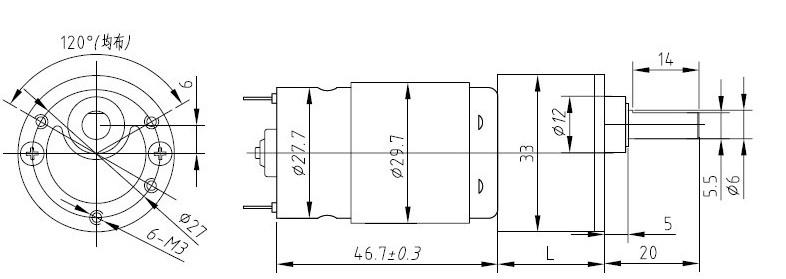 Sg14 032 dc gear motor china mainland gearboxes for Dc gear motor specifications